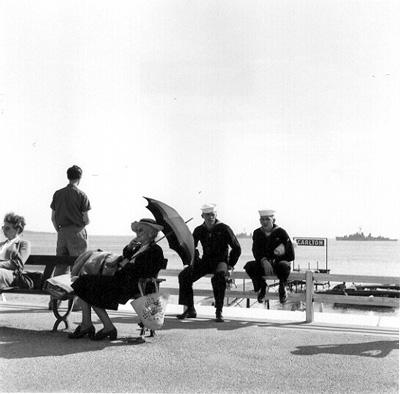 US sailors on the Croisette